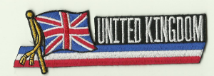 Great Britain Union Jack Embroidered Flag Patch, style 01.